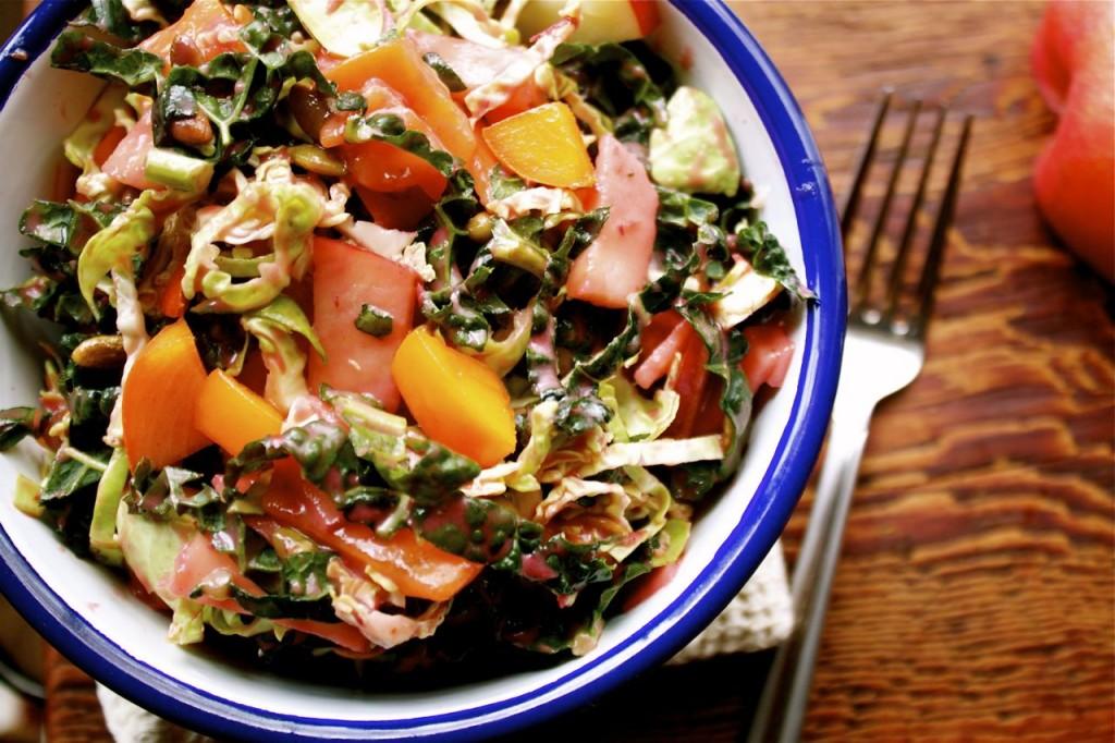 Honey Crisp and Kale Winter Salad Recipe