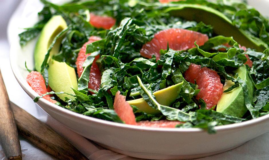 Kale and Pink Grapefruit Winter Salad Recipe