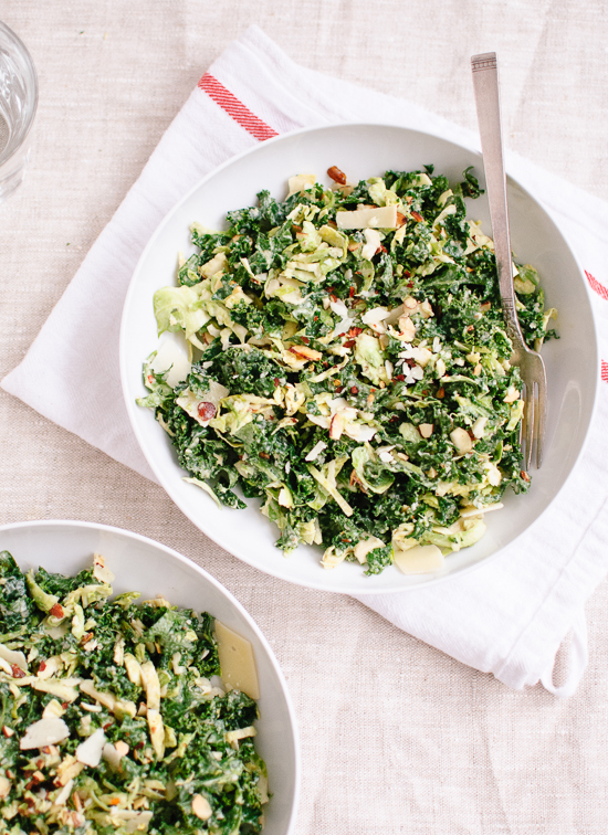 Kale and Brussels Winter Salad