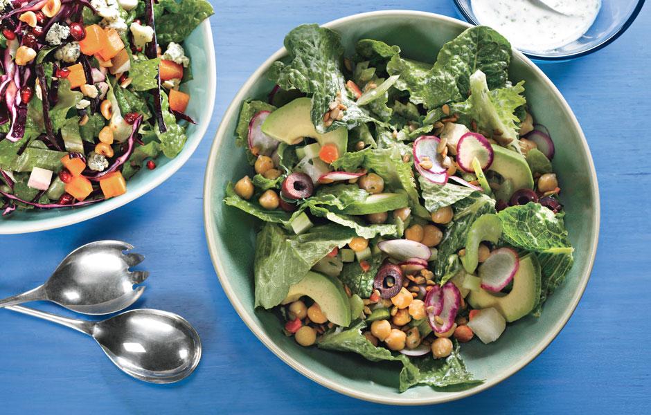 Lemon Yogurt Dressing Winter Salad Recipe