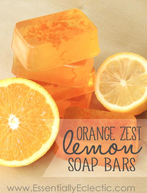 Orange Zest Lemon Soap DIY
