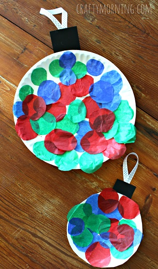 Paper Plate Christmas Ornament DIY