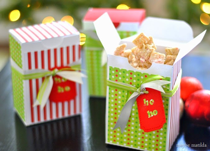 Peppermint Chex Mix Party Favor DIY
