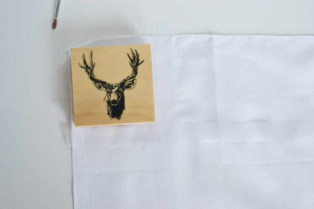 Reindeer Stamped Napkins - Paper