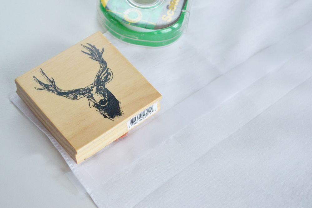Reindeer Stamped Napkins - Stamp
