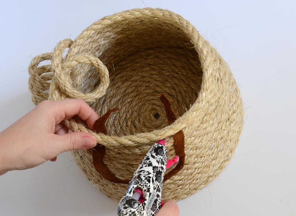 Rope Basket DIY 5