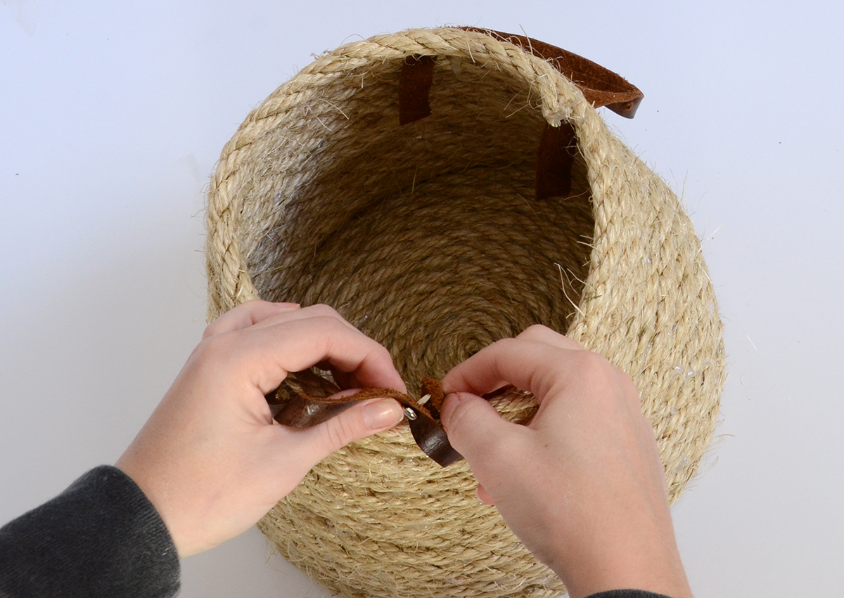 Rope Basket DIY 6