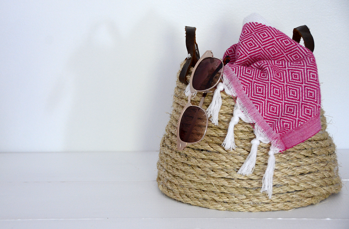Rope Basket DIY 8