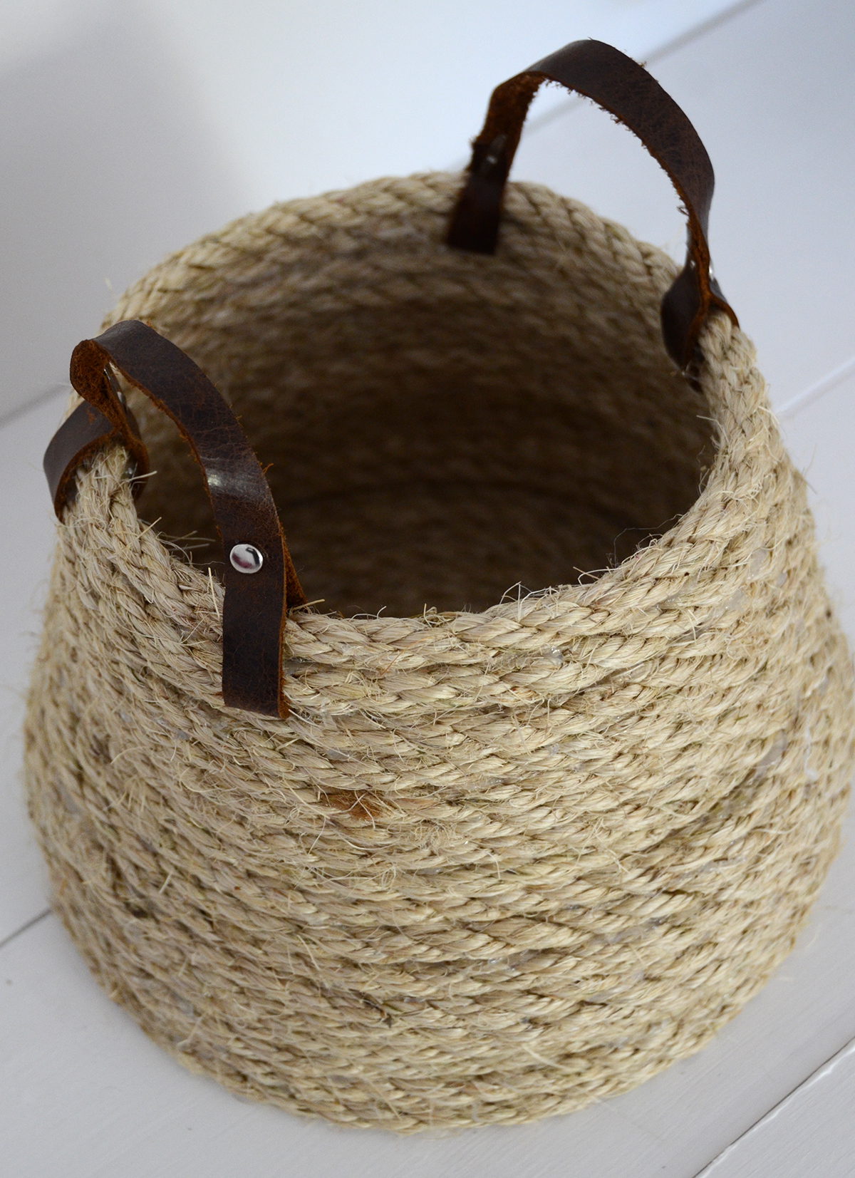 Rope Basket DIY 9