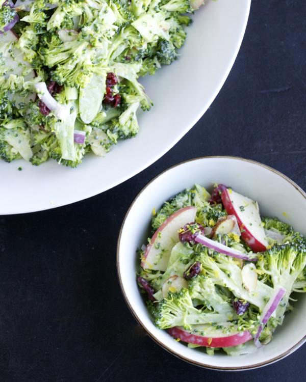 Shaved Broccoli Winter Salad Recipe