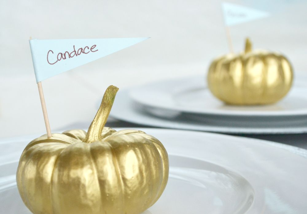 Vibrant Pumpkin Place Card Setting