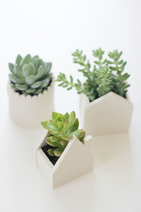 air dry clay planters