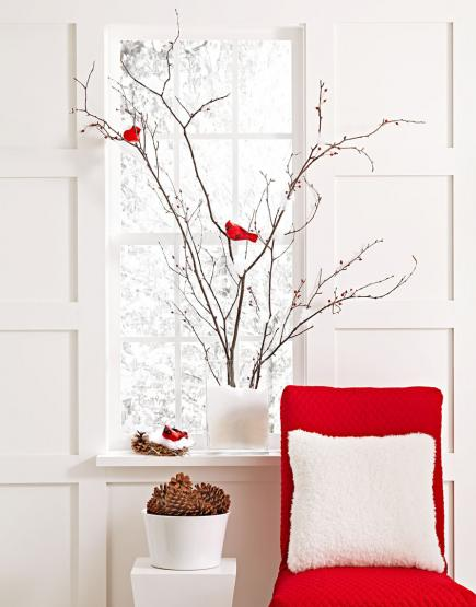 cardinal red bird decorations