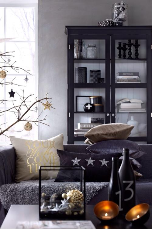 christmas noir black gold