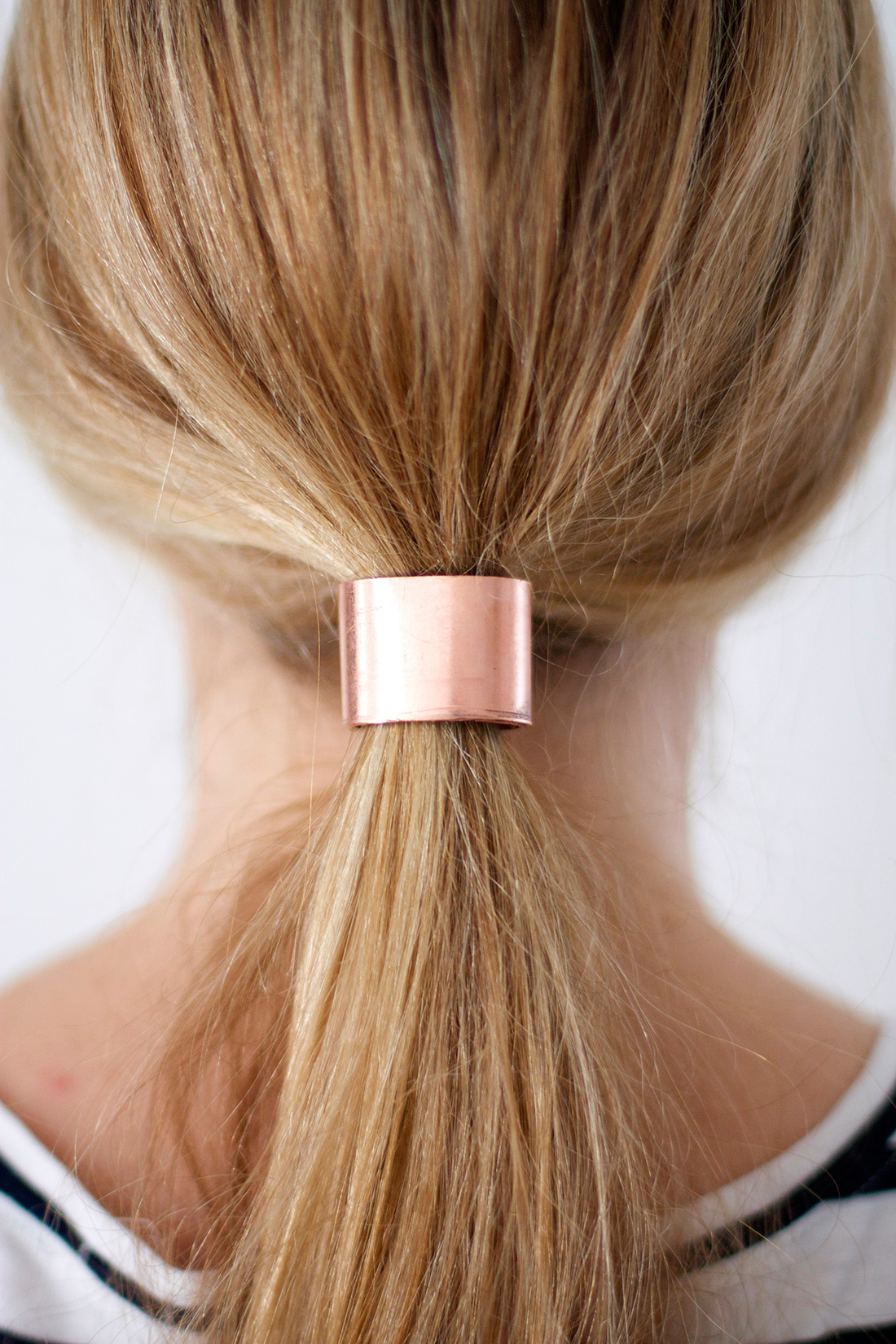 copper ponytail hair cuff