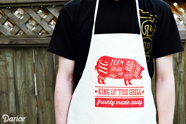 easy bbq apron free printable