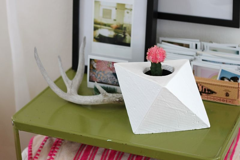 geometric succulent planter diy