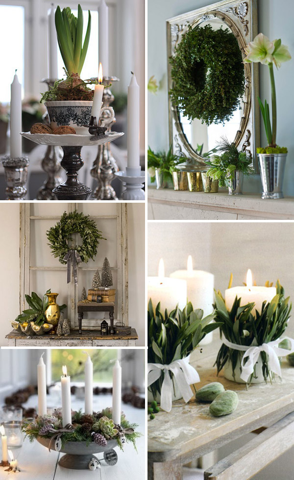 green christmas decor ideas - Modern Christmas Decorating Ideas