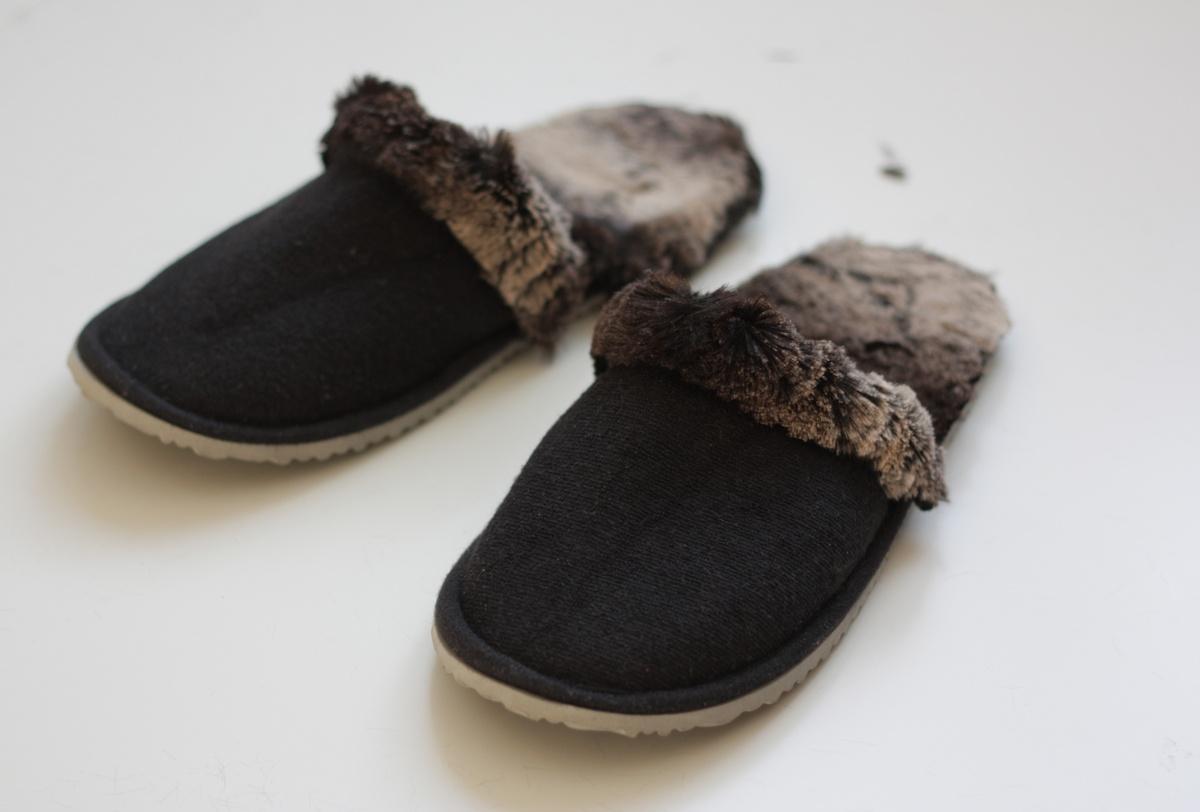 ikea hack faux fur slippers set