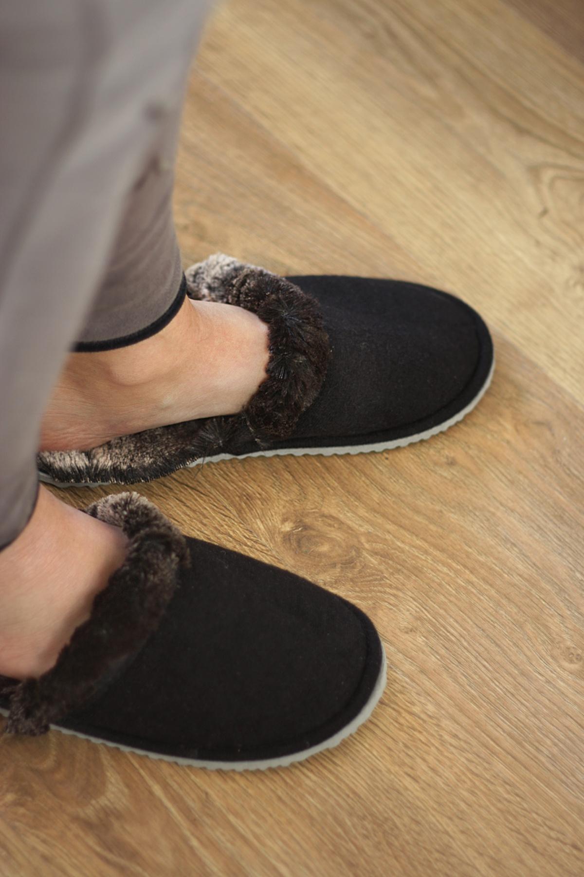 ikea hack faux fur slippers wear
