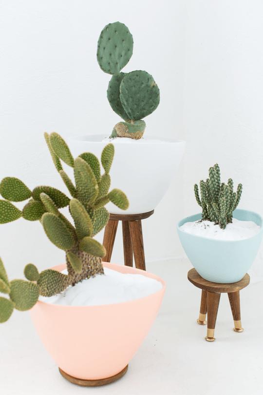 mid century modern planters