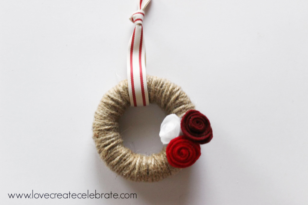 mini wreath ornament