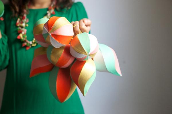 painted paper mache ornaments