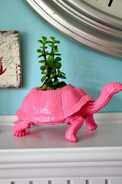 plastic animal planter