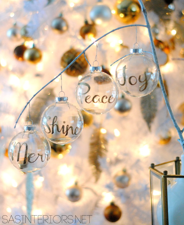25 beautiful diy christmas ornaments sharpie glass ornaments these diy solutioingenieria Images