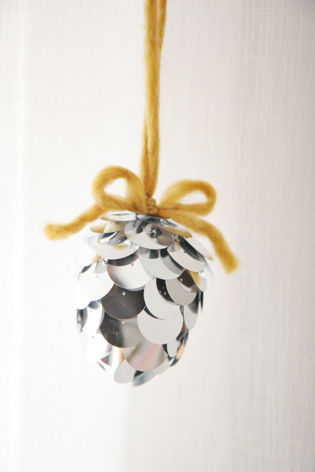 silver acorn diy ornament