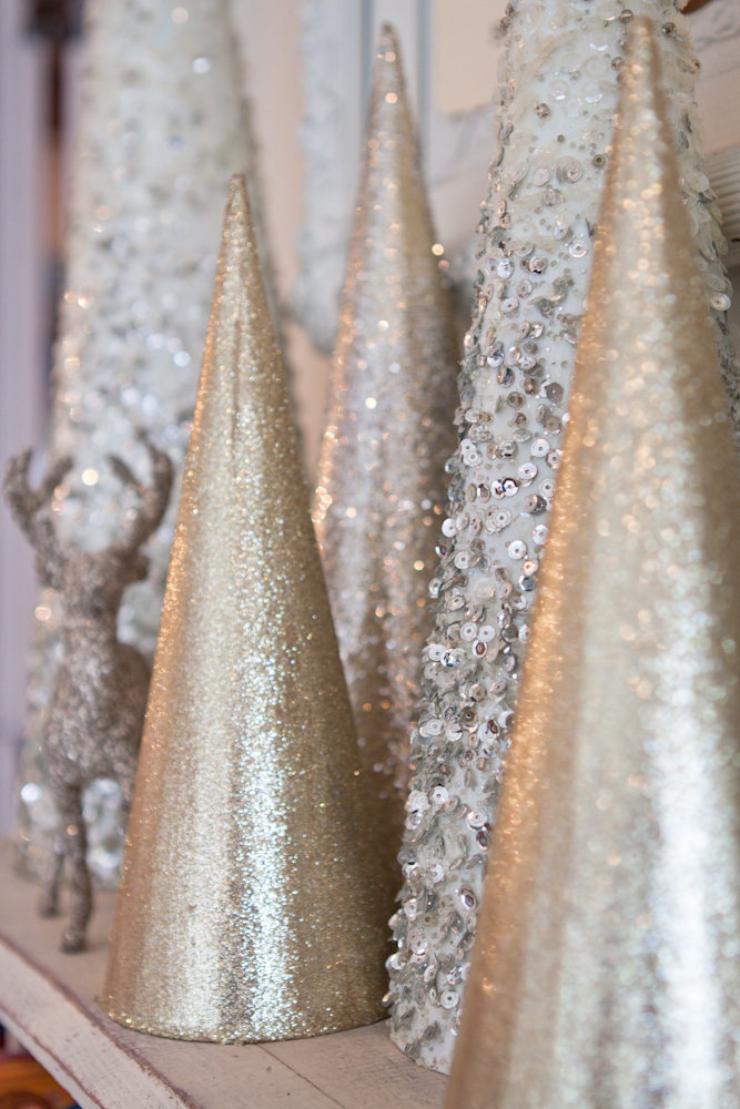sparkly gold glam christmas decorations