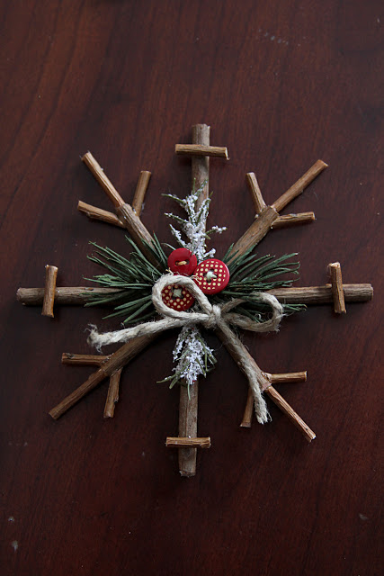 twig snowflake ornament