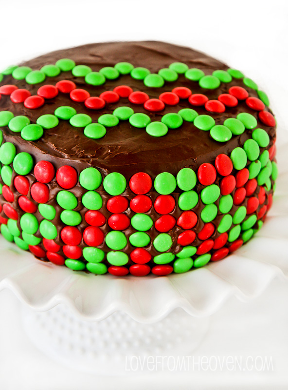 Christmas Chevron Cake Recipe