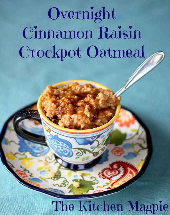Cinnamon Raisin Oatmeal Crockpot