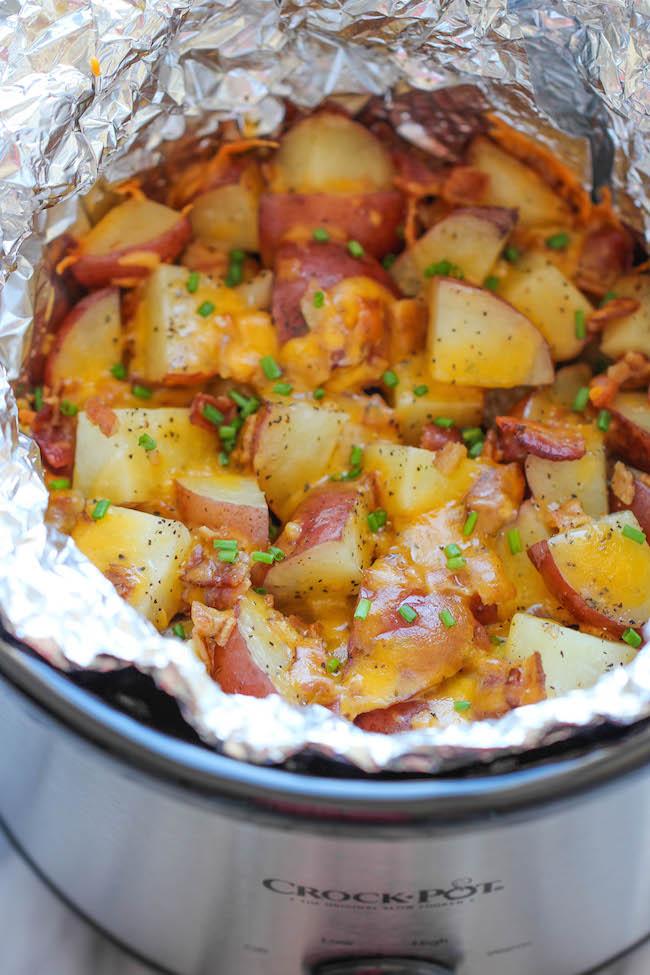 Crockpot Bacon Ranch Potatoes