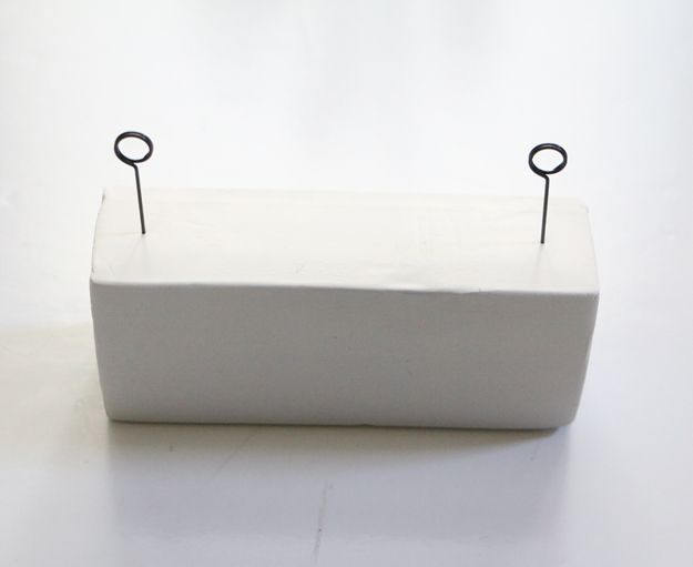 DIY Clay Desk Organizer - space between pins