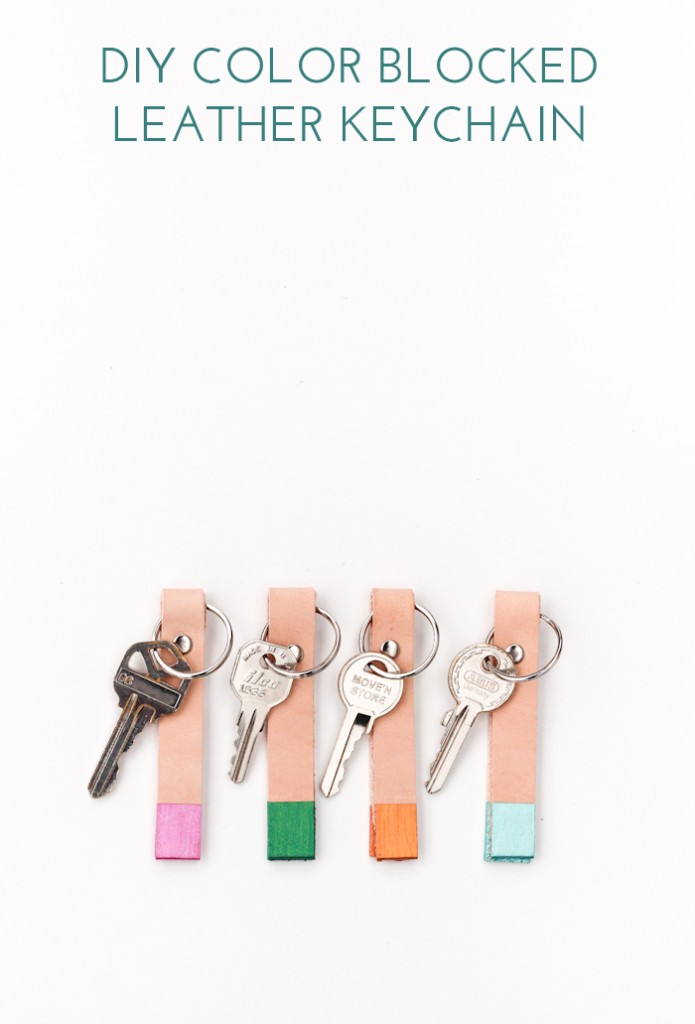 DIY Colorblock Keychain