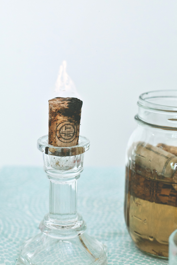DIY Cork Candle