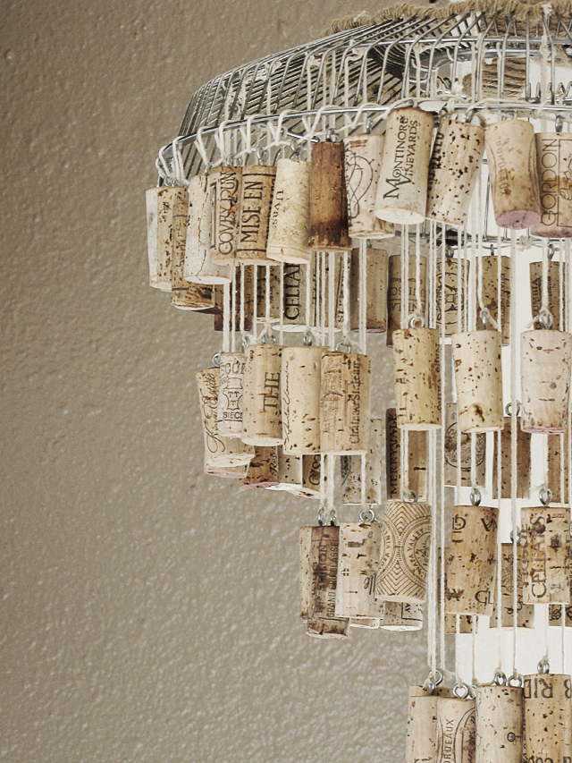 DIY Cork Chandelier