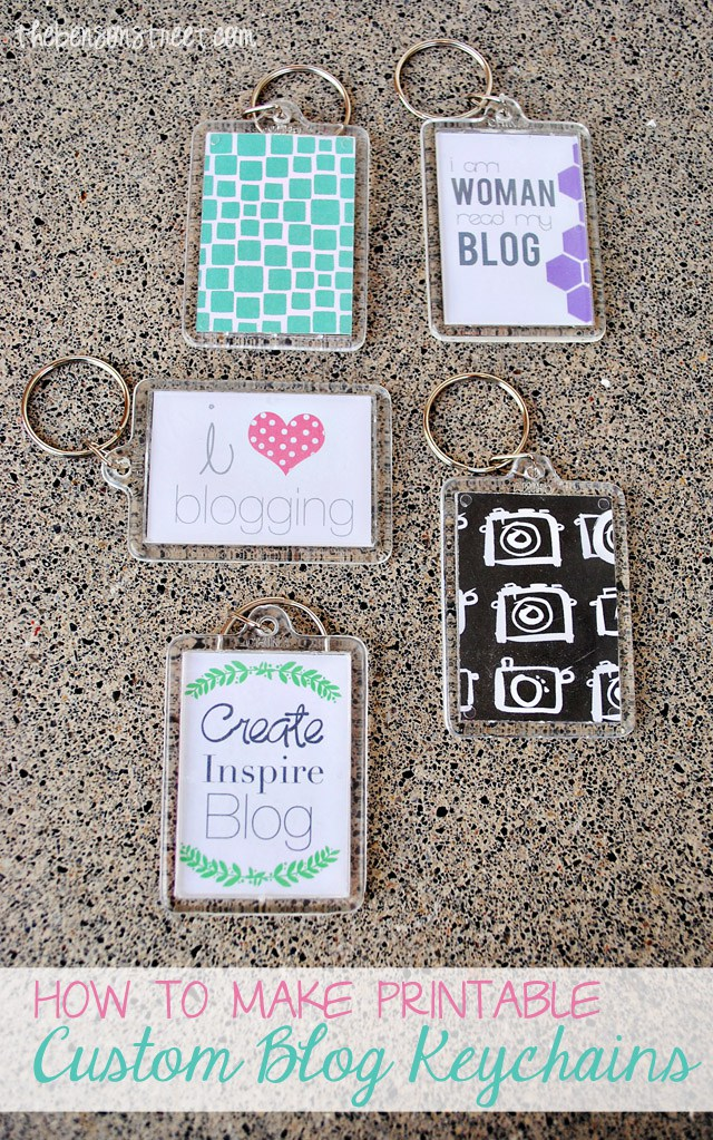 DIY Custom Blog Keychains