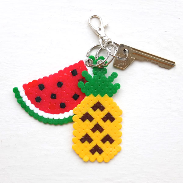 DIY Fruit Bead Keychains