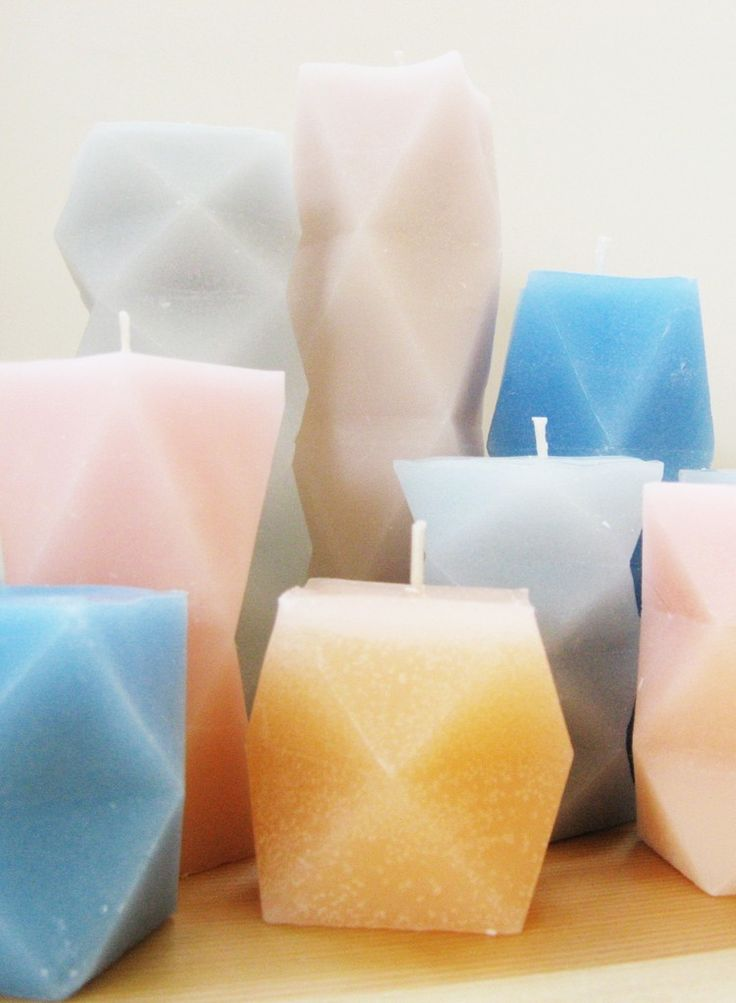 DIY Geometric Candles
