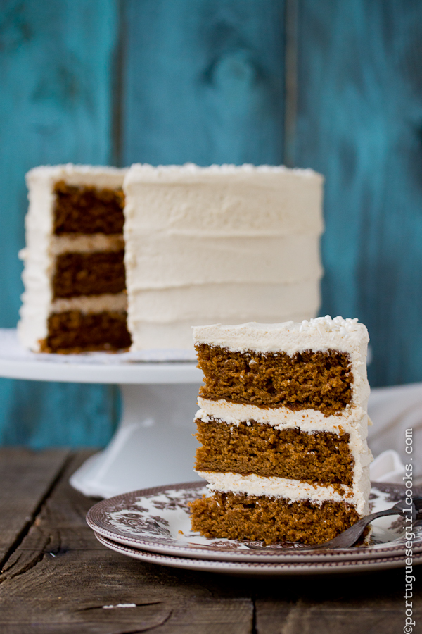 DIY Holiday Spice Cake with Eggnog Buttercream