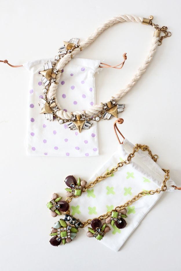 DIY Jewelry Bags Craft