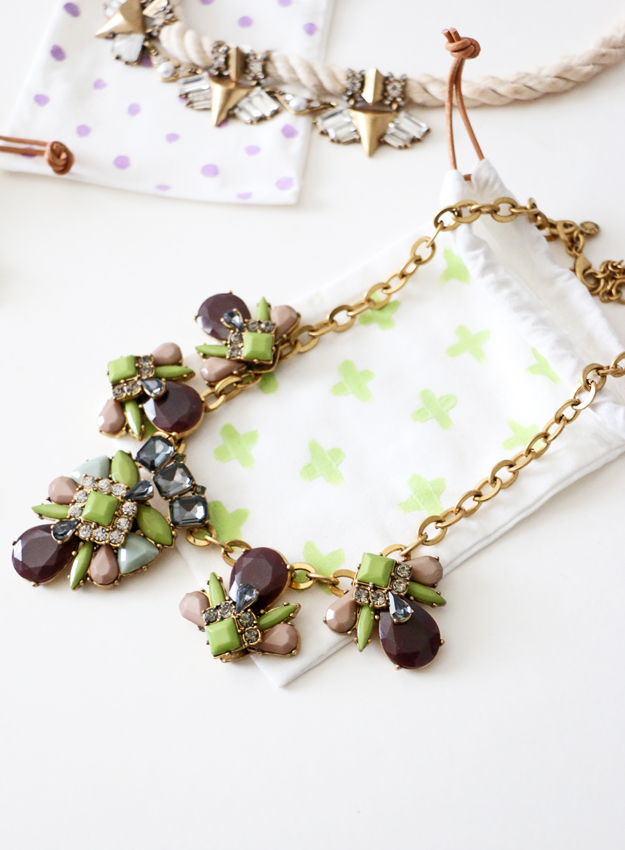 DIY Jewelry Bags Project