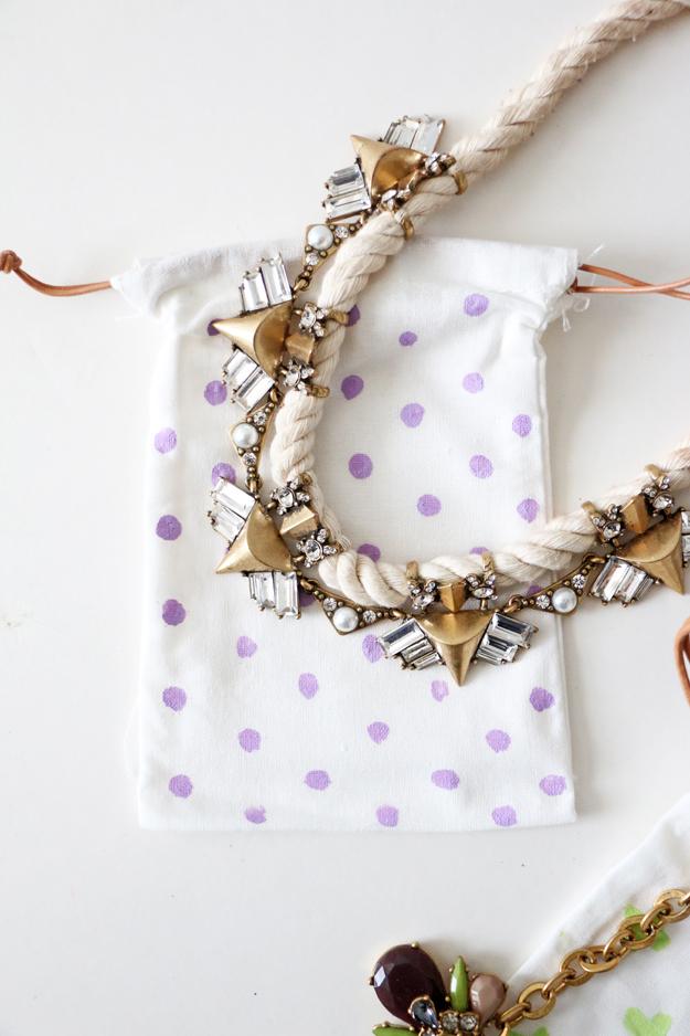 DIY Jewelry Bags