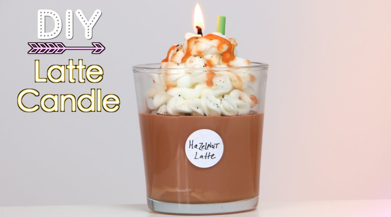 DIY Latte Candle