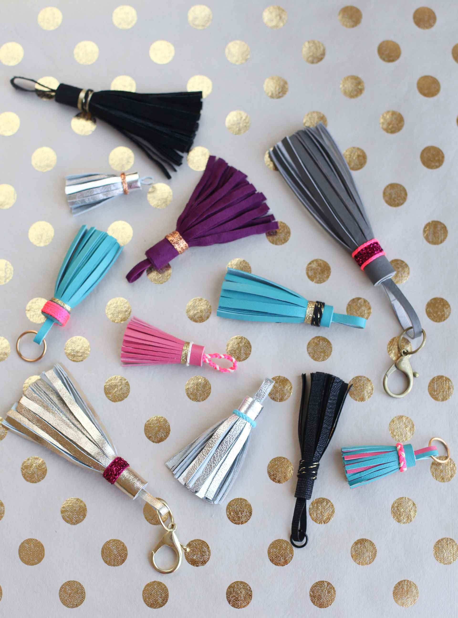 DIY Leather Tassel Keychain a47396073307