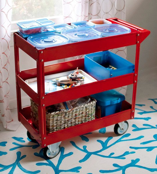 DIY Lego Storage Cart