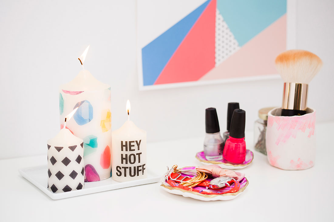 DIY Patterned Candles